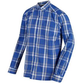 Regatta Mindano - T-shirt manches longues Homme - bleu/blanc